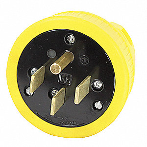Dust Tight Straight Blade Plug, 50 Amps, 125/250VAC Voltage, NEMA Configuration: 14-50P, Number of P