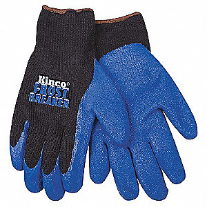 Coated Gloves,S,Black/Blue,PR