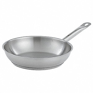Stainless Steel Fry Pan,12-1/2 In. Dia.