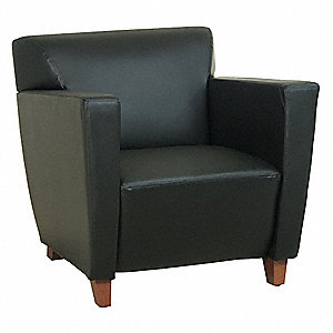 Lounge Chair,Leather,Black,Cherry