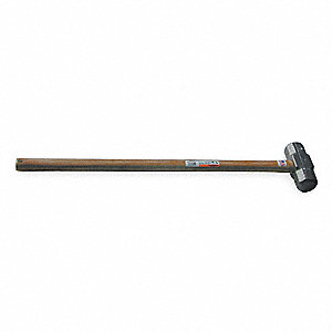 "Double Face Sledge Hammer, 8 lb. Head Weight, 2-5/16"" Head Width, 34-1/4"" Overall Length"