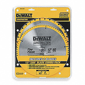 Circular Saw Blade,Carbide,12 In,PK2