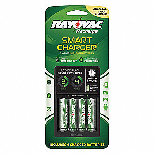 Battery Charger,120VAC,NiMH,NiCd,54 hr.