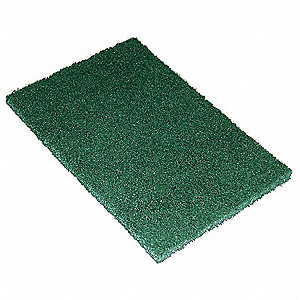 "Green, Recycled Polyester Hand Pad, Length 9"", Width 6"", 60 PK"