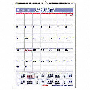 Wall Calendar,Monthly,8 x 11 In