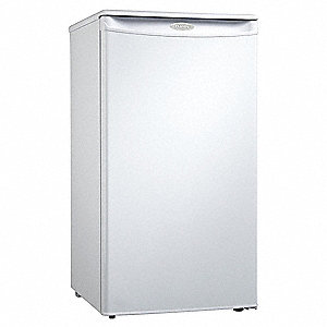 Refrigerator and Freezer,2.9 cu ft,White