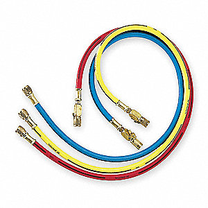 Manifold Hose Set,72 In,Red,Yellow,Blue