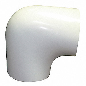 White Insulated Fitting Cover, 90° Elbow Fitting Type, Fiberglass Insulation Material