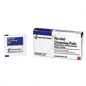 "Alcohol Cleansing Pads, Application: Skin Cleaner, Size: 1-1/4"" x 2-5/8"", Box Package Type"