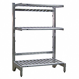 "T-Bar Cantilever Shelving, 60"" Base Length, Number of Sides 1, Number of Arms 3"