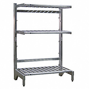 "T-Bar Cantilever Shelving, 48"" Base Length, Number of Sides 1, Number of Arms 3"