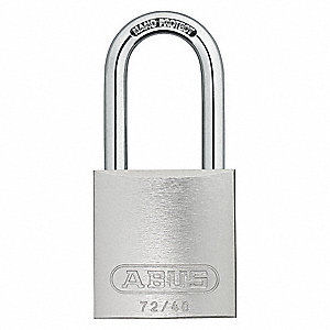Silver Lockout Padlock, Different Key Type, Master Keyed: No, Recycled Anodized Aluminum Body Materi