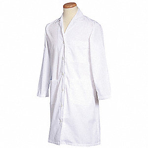 Lab Coat,S,White,39-1/2 In. L