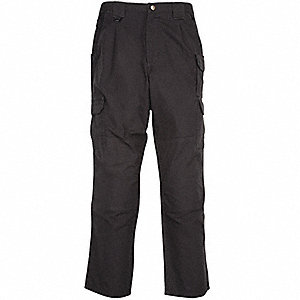 "Men's Tactical Pants, Size 36"", Color: Black"