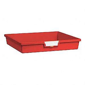 Storage Tray,Single,Length 18-1/2,Red