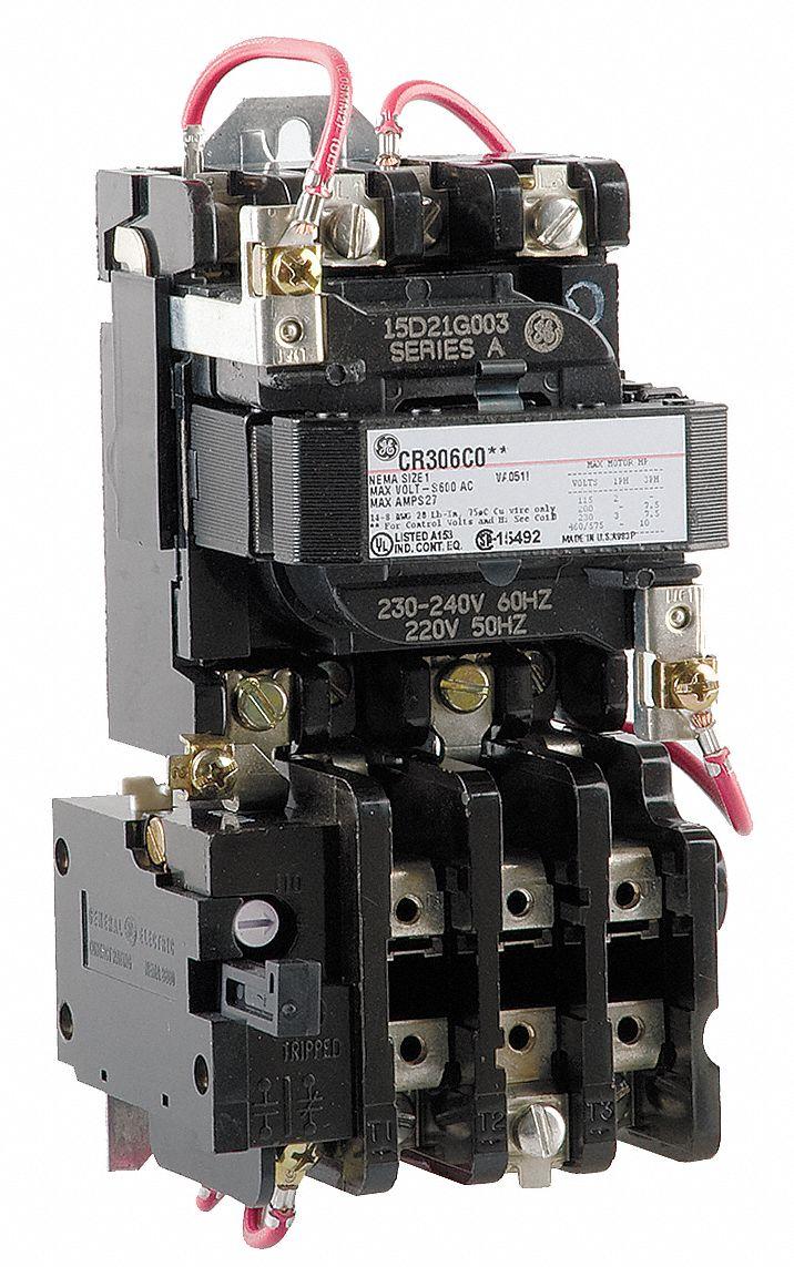 ge magnetic motor starter 480vac coil volts nema size 1. Black Bedroom Furniture Sets. Home Design Ideas