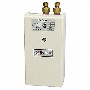 Electric Tankless Water Heater, Undersink, Point-of-Use, 5500 Watts, 23 Amps AC