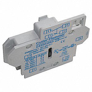 Auxiliary Contact, 10 Amps, Standard Type, Side Mounting