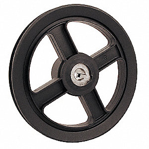 "V-Belt Pulley,5/8""Fixed,7.25""OD,Nylon"