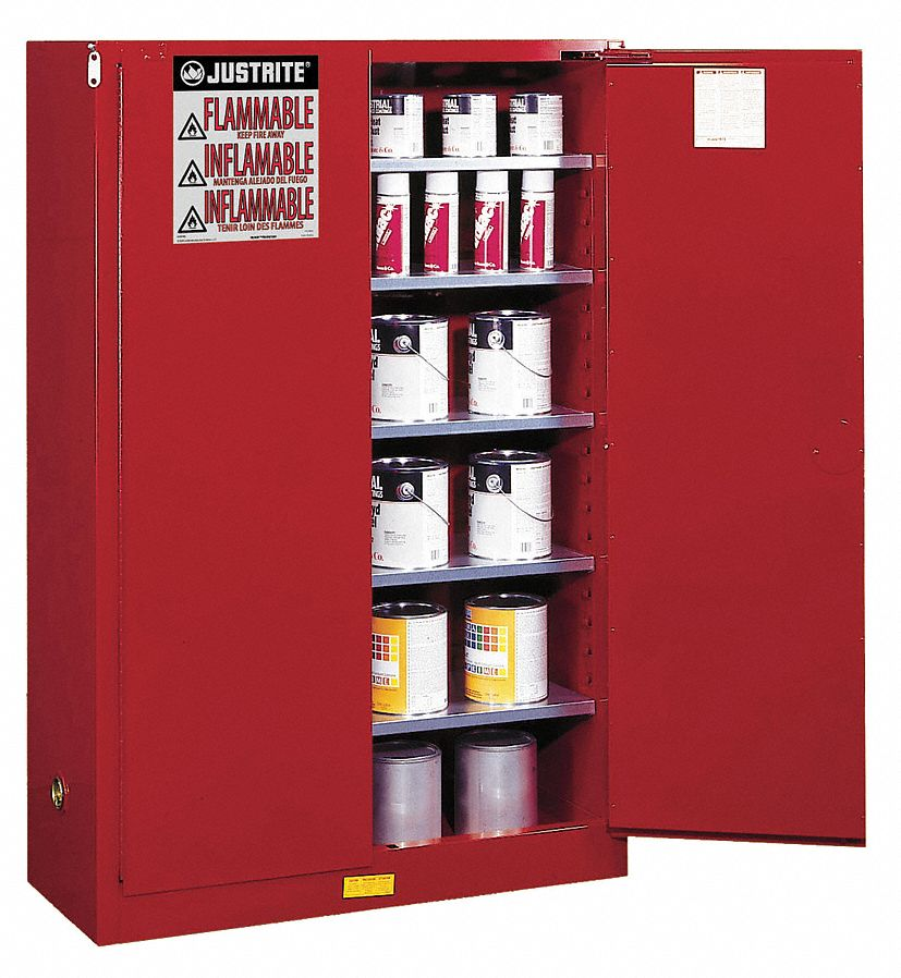 JUSTRITE 60 gal. Paint and Ink Cabinet, Manual Safety ...