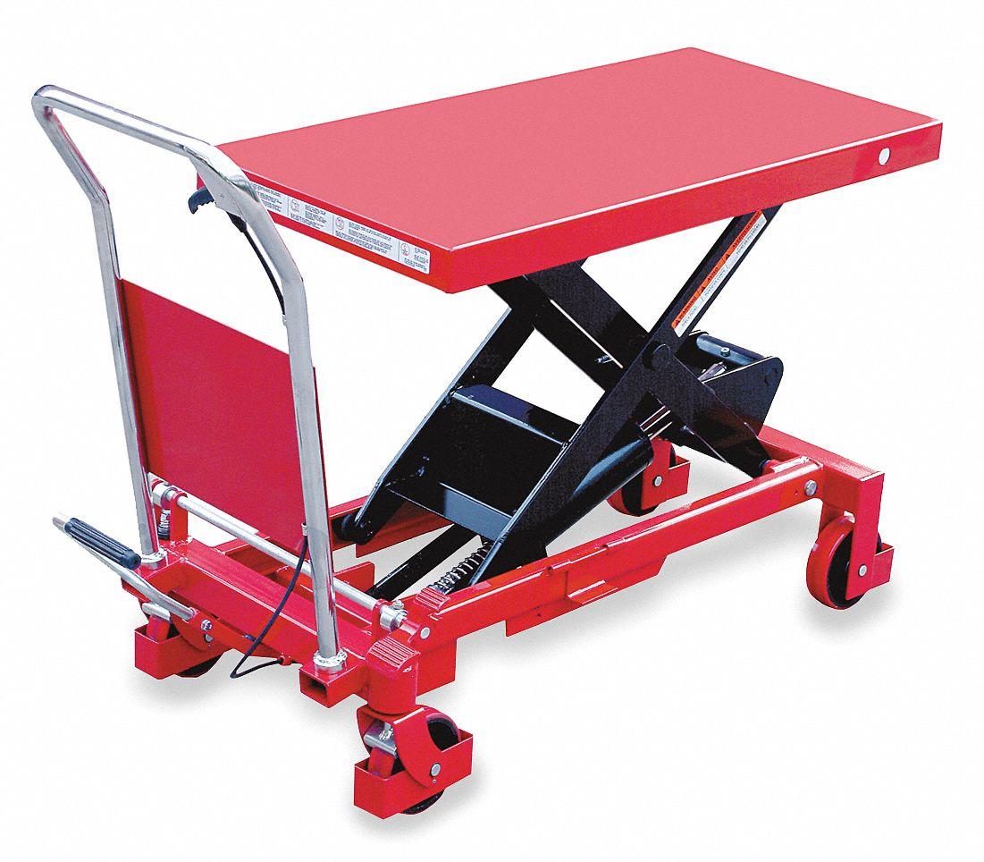Hoist 1200 Gym Manual: DAYTON Mobile Manual Lift, Manual Push Scissor Lift Table