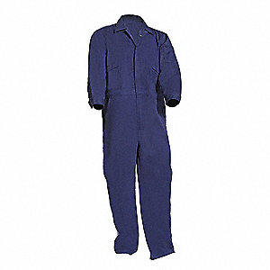 Twill Blend-88% Cotton/12% High Tenacity Nylon, FR Coverall w/Gel Knee Pads, Size: XL