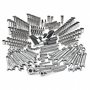 SAE and Metric Master Tool Set, Number of Pieces: 255, Primary Application: Mechanic