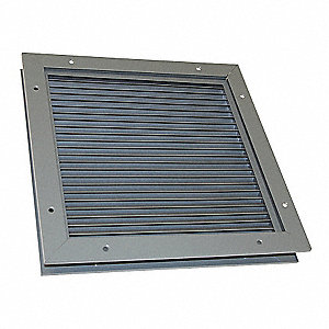 Door Louver,18-1/8 H,18-1/4 W,Steel