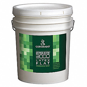 Interior Paint,Flat,5 gal,White