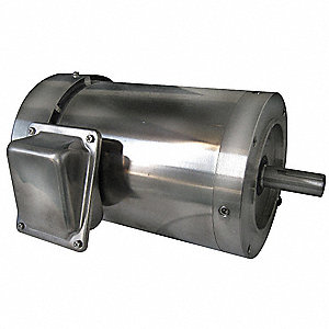2 HP Washdown Motor,3-Phase,1750 Nameplate RPM,208-230/460 Voltage,Frame 56C