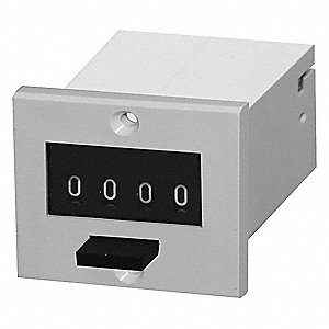Electromechanical Counter, Panel Mounting, Number of Digits: 4, Max. Counts per Second: 10