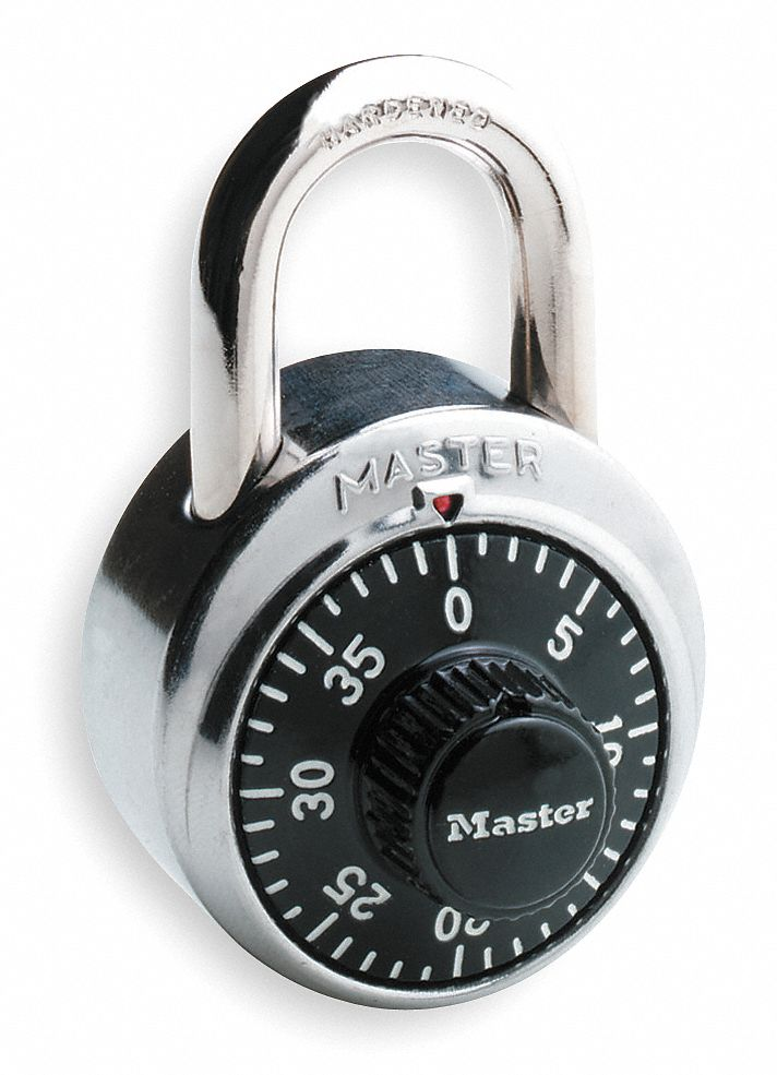 Master Lock Combination Padlock Front Dial Location 3 4
