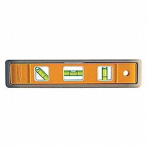 "Magnetic, Aluminum Torpedo Level, 9"" Length, Top Read: Yes"