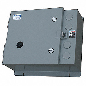 NEMA Magnetic Motor Starter, 240VAC Coil Volts, Overload Relay Amp Setting: 30 to 150A