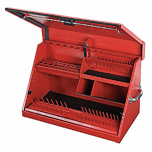 "Portable Tool Box, 16 gal. Steel, 30"" Overall Width x 15"" Overall Depth"