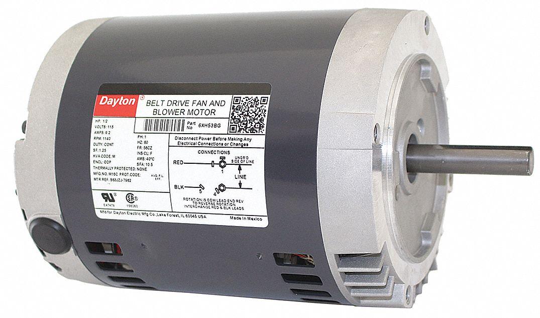 dayton 1 2 hp belt drive motor split phase 1140 On dayton belt drive motors