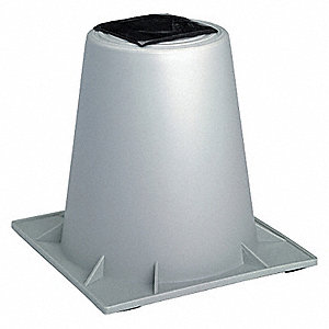 Heat Pump Riser, 6 In.,Gray