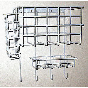 Wall Mount Wire Rack,10-1/2 In. L