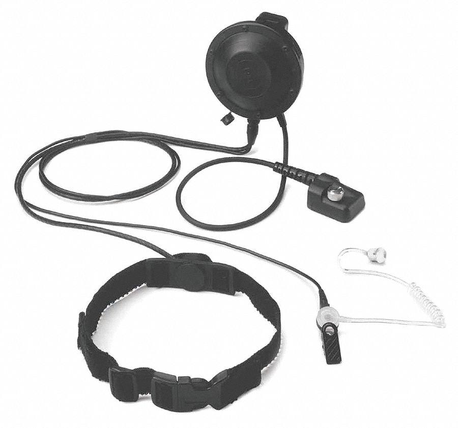 Otto Throat Microphone With Ptt 6xtt6 V1 T12mg137 Grainger