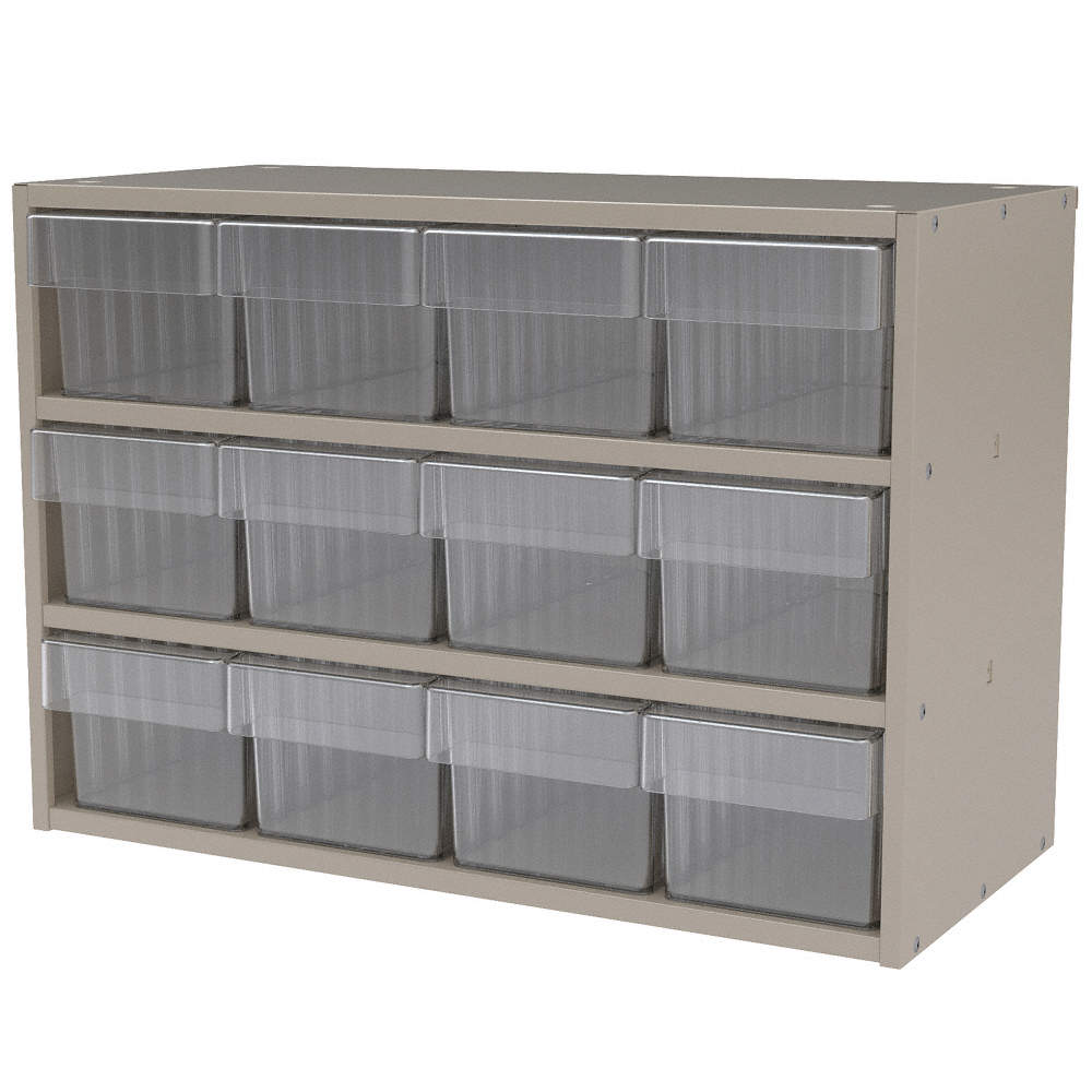 Akro Mils Akro-Mils AD2311P62CRY Drawer Bin Cabinet, 11 In. D, 23 In. W at Sears.com