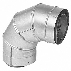 Vent Pipe Elbow,90 Degree,4In L,3In Dia.