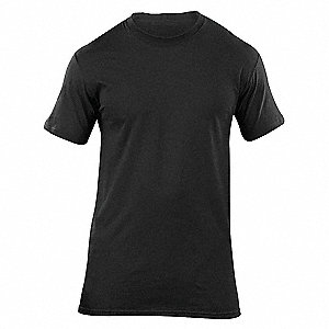Utili-T Crew Neck Shirt,Black,L,PK3
