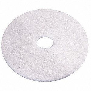 "13"" White Recycled Polishing Pad, Recycled Plastic Polyester Fiber, Package Quantity 5"