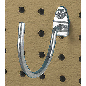 Curved Pegboard Hook, Package Quantity 3