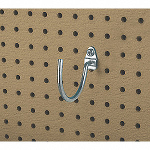 Curved Pegboard Hook, Package Quantity 2