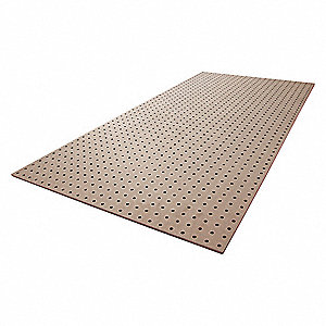Brown Hardwood Pegboard, 16 sq. ft. Storage, Package Quantity 2