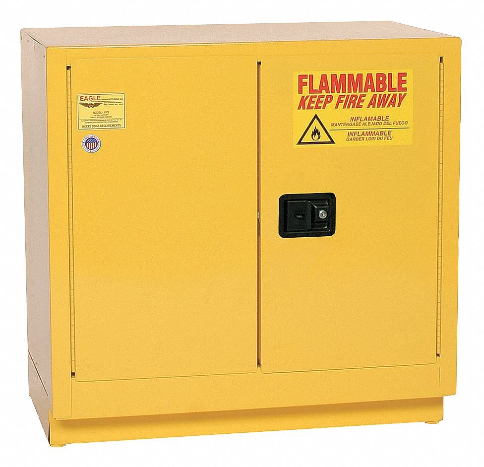 Eagle 22 Gal Flammable Cabinet 35 Quot X 35 Quot X 22 Quot Manual