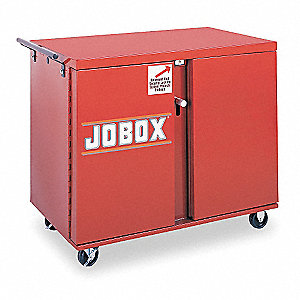 "Jobsite Mobile Workbench, 43-7/8"" Width, 26-7/8"" Depth, 38-1/2"" Height, Steel"