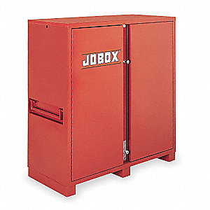 "Brown Jobsite Storage Cabinet, Width: 60-1/8"", Depth: 24-1/4"", Height: 60-3/4"", Storage Capacity: 47"