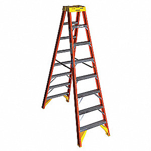 8 ft. 300 lb. Load Capacity Fiberglass Twin Stepladder